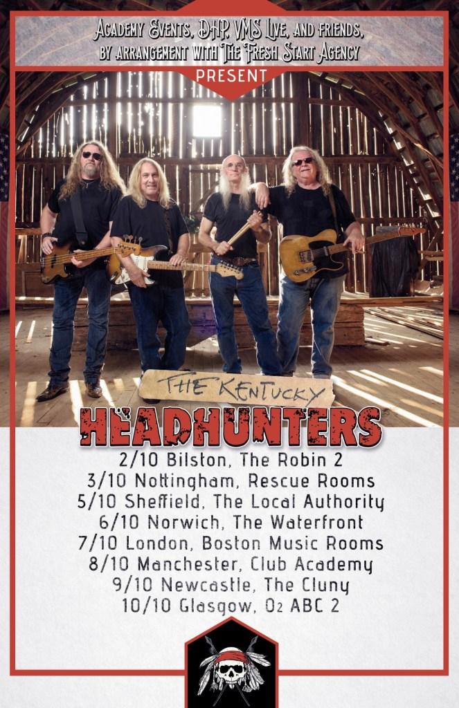 The Kentucky Headhunters UK tour 2017