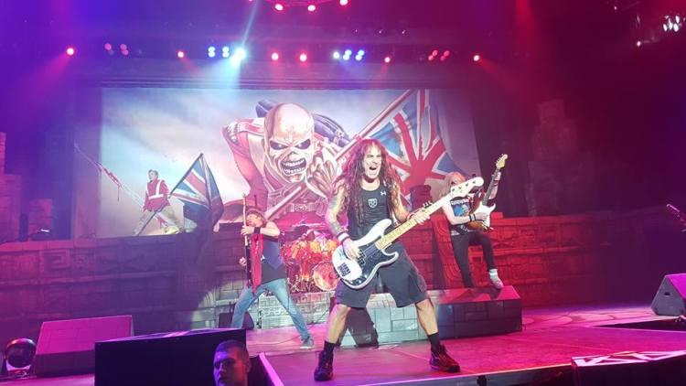 Iron Maiden live @ Barclaycard Arena, Birmingham. Photo Credit: Elliot Leaver
