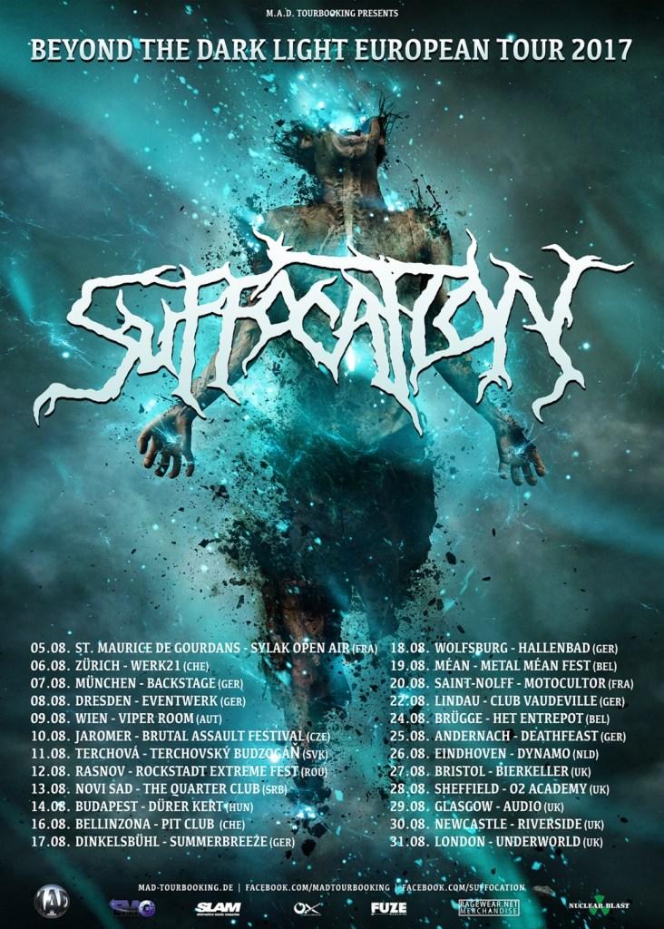 Suffocation European Tour 2017