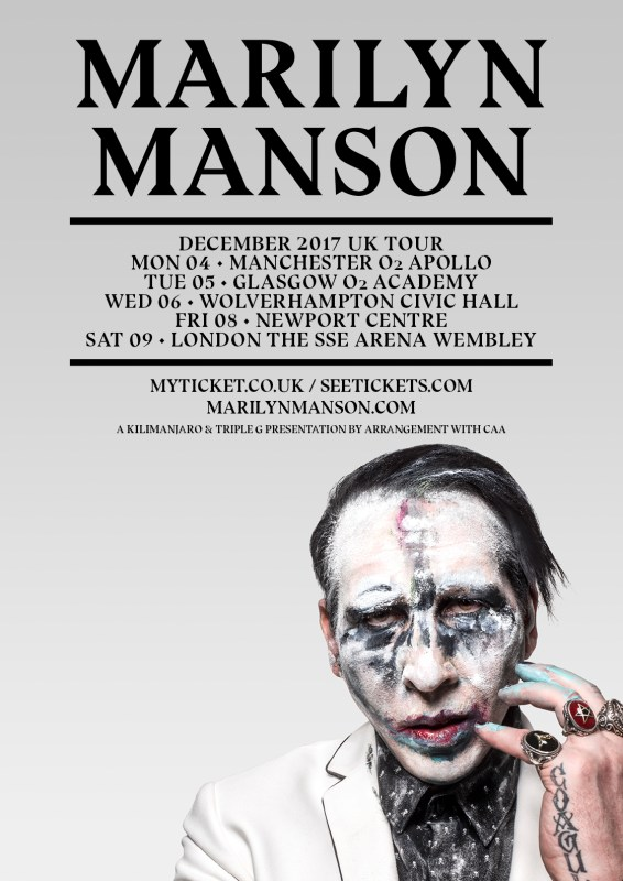 Marilyn Manson UK tour 2017