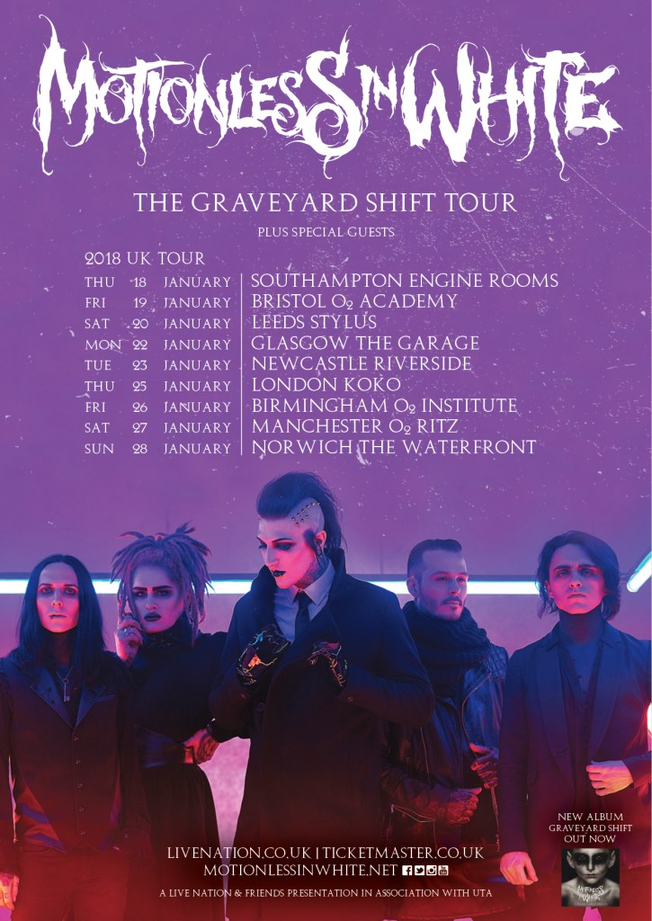 Motionless In White UK tour 2018