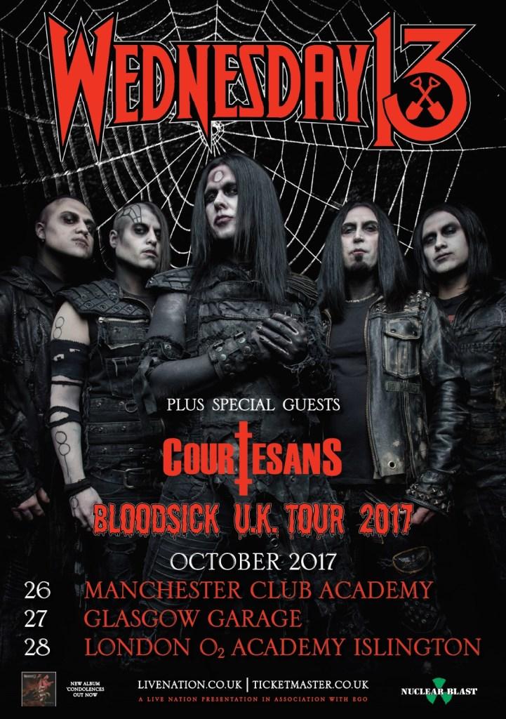 Wednesday 13 UK Tour 2017