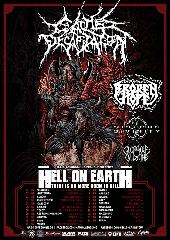 Cattle Decapitation EU Tour 2017