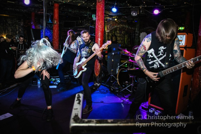 Venom Prison live @ Satan's Hollow, Manchester. Photo Credit: Christopher Ryan Photography