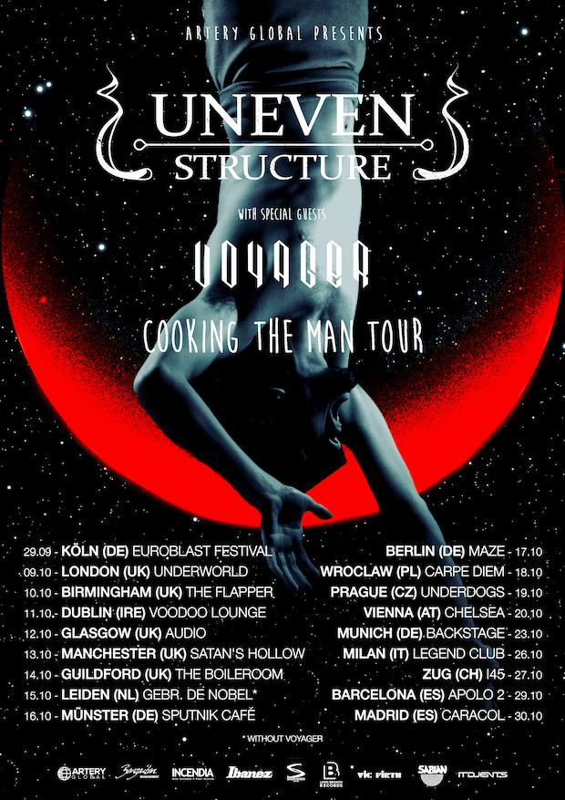 Uneven Structure/Voyager EU/UK Tour 2017