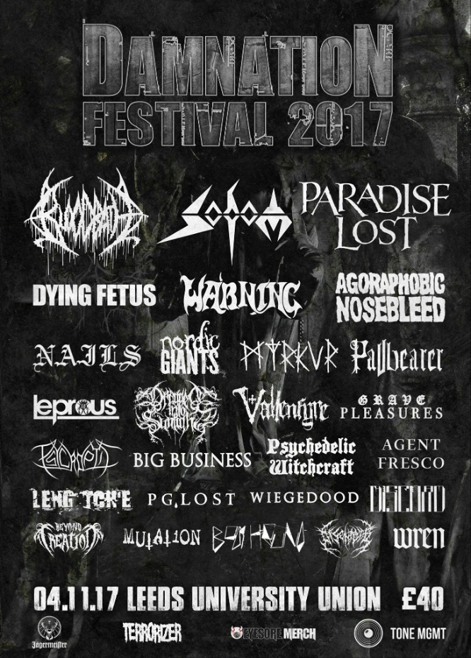 Damnation Festival 2017 - Final Lineup