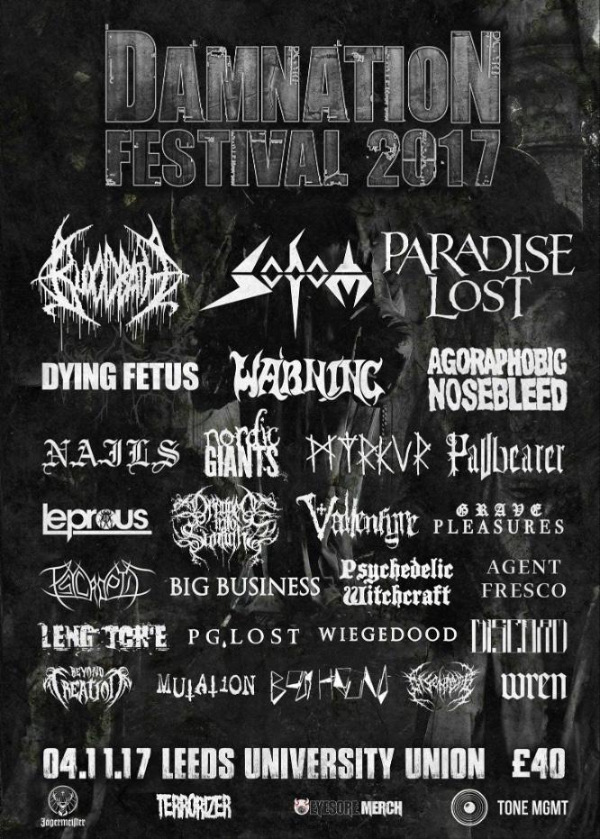 Damnation Festival 2017 - Final Lineup