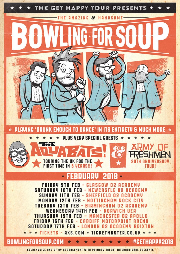 Bowling For Soup announce \'Get Happy Tour 2018\' - Distorted Sound ...