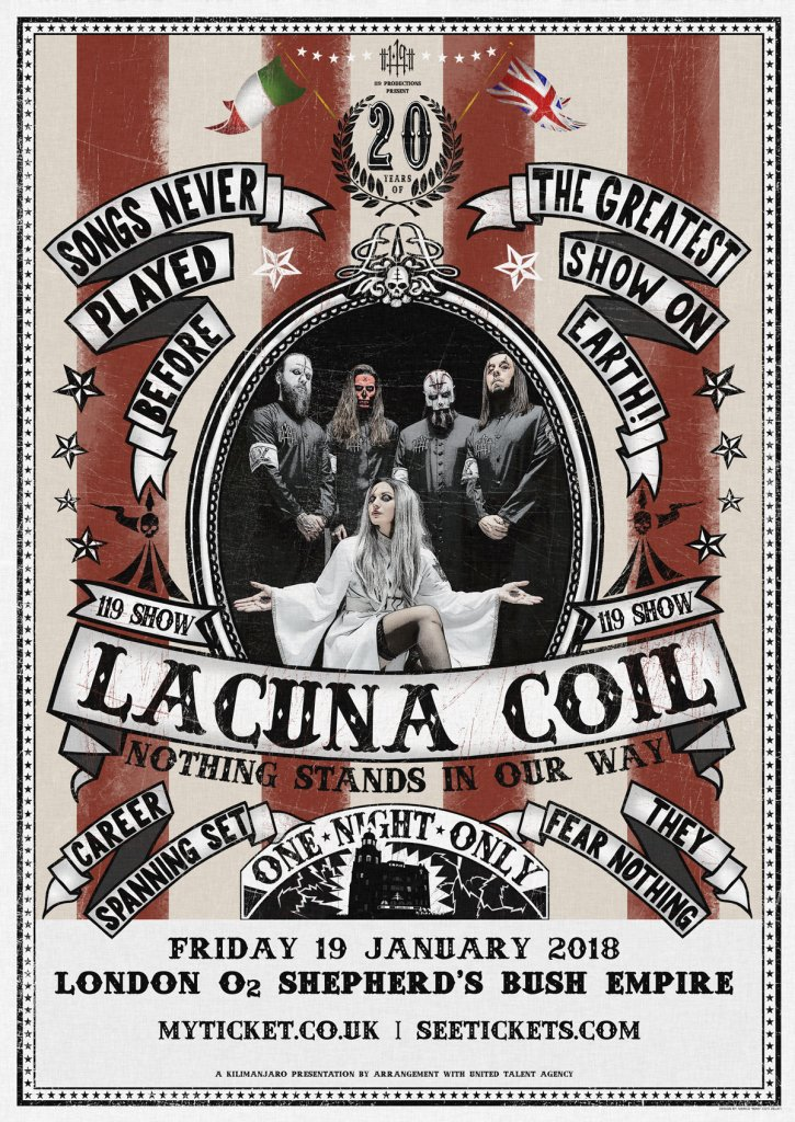 Lacuna Coil Nothing Stands In Our Way Anniversary Show 2018