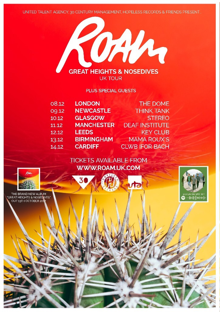 ROAM UK Tour 2017