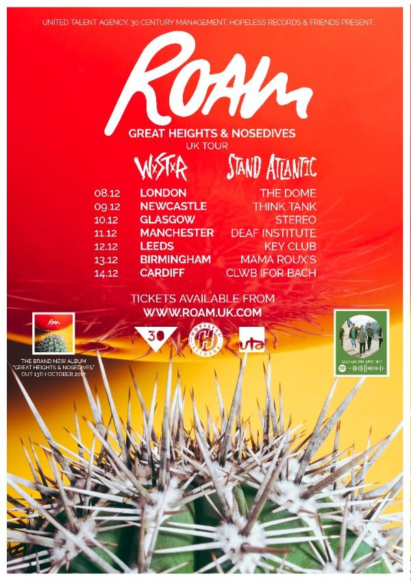ROAM UK Tour 2017