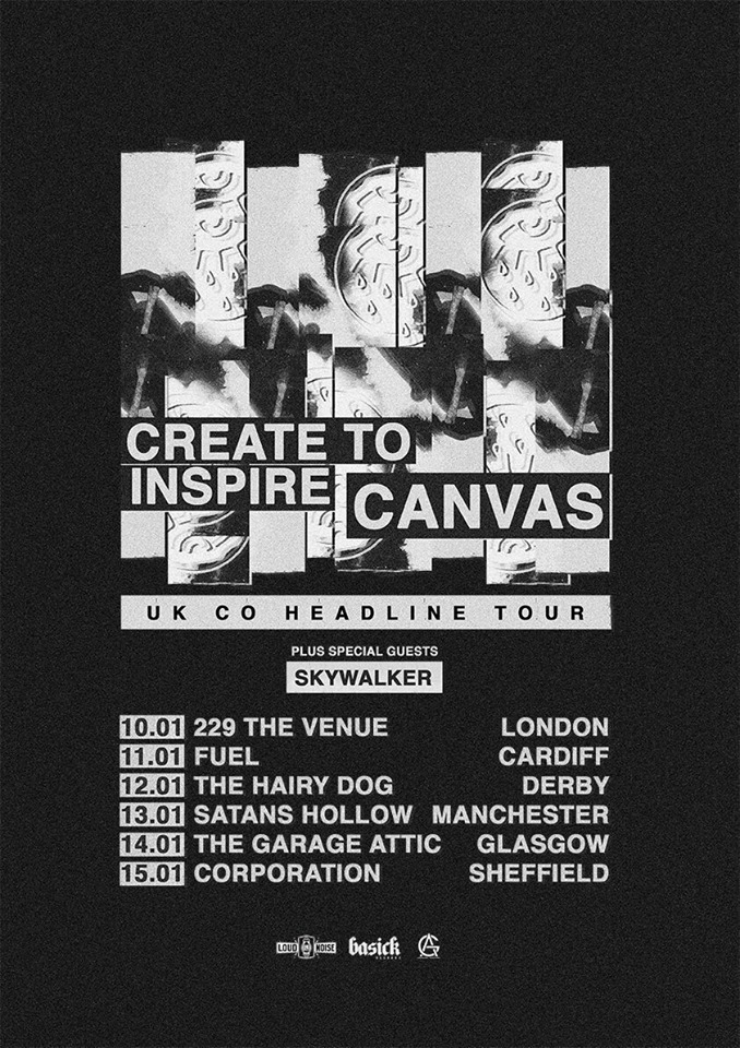 Create To Inspire and Canvas UK Tour 2018