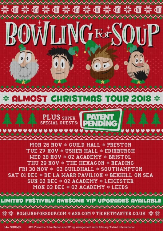 Bowling For Soup announce \'Almost Christmas Tour\' - Distorted Sound ...