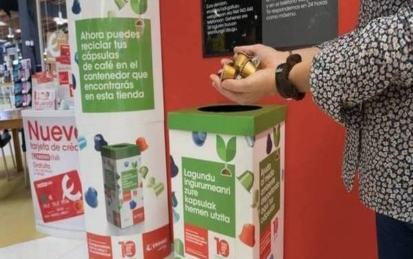 Eroski instala puntos de reciclado de cápsulas de café en sus establecimientos