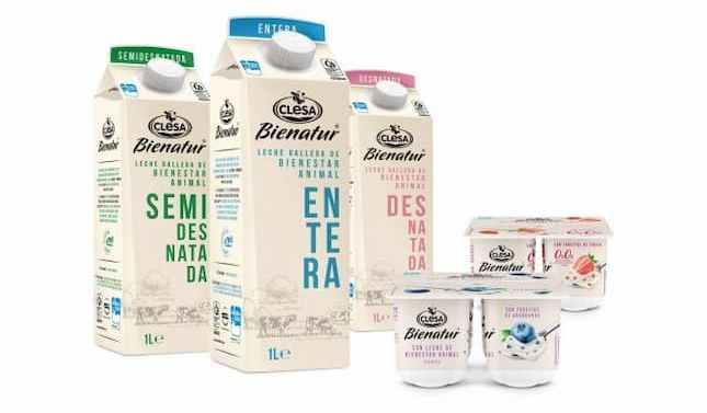 Clesa lanza su nueva gama de leche y yogures de bienestar animal