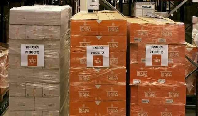 Chocolates Trapa dona miles de productos a hospitales de toda España y a la UME