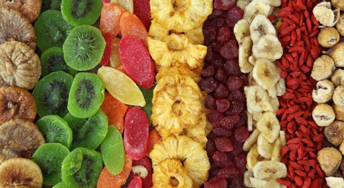 La oferta en crecimiento de las frutas y verduras deshidratadas