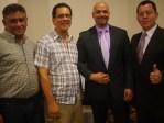 Diamante Internacional Platino Juan Rosado y Jorge Quintanilla con Nicolas Salgado Diamante