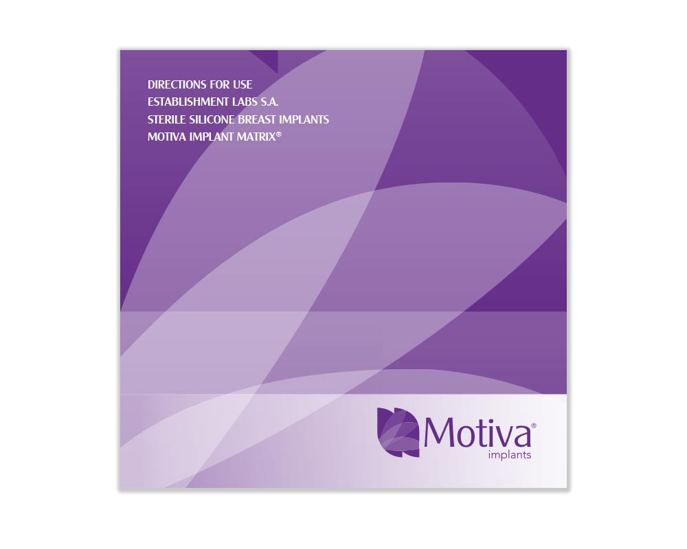 directions for use sterile silicone breast implants motiva