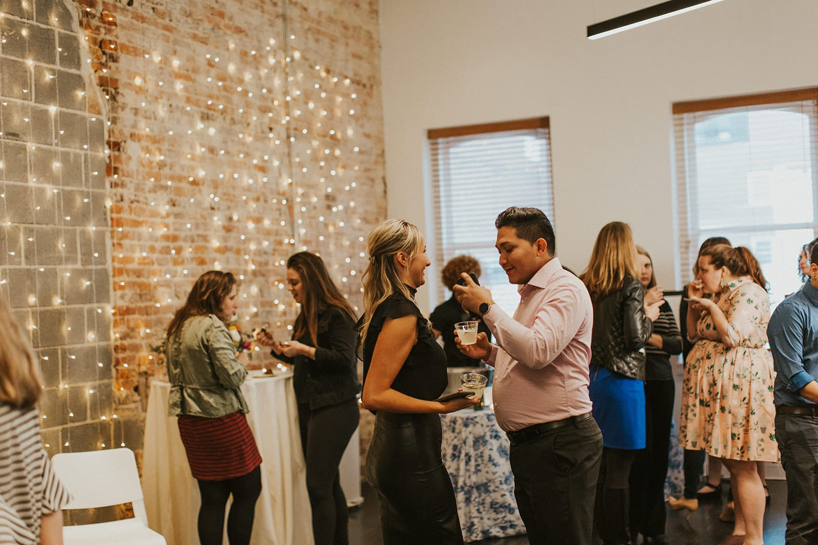 Shelly Pate Photography photographed the District Bliss Vendor Social, a light-hearted networking event, at The Gallery at Elevate in Washington, DC in March 2019