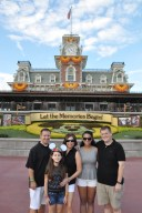 My family visiting Walt Disney World Resort in 2013