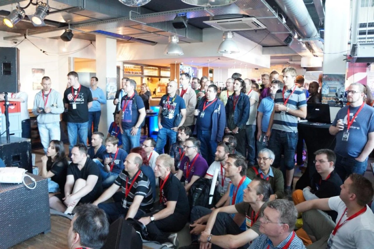 Crowded Amiga Event in Amsterdam