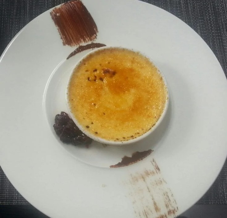 Burnt milk with grated coconut