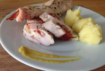 Chicken breast stuffed with ham and cheese