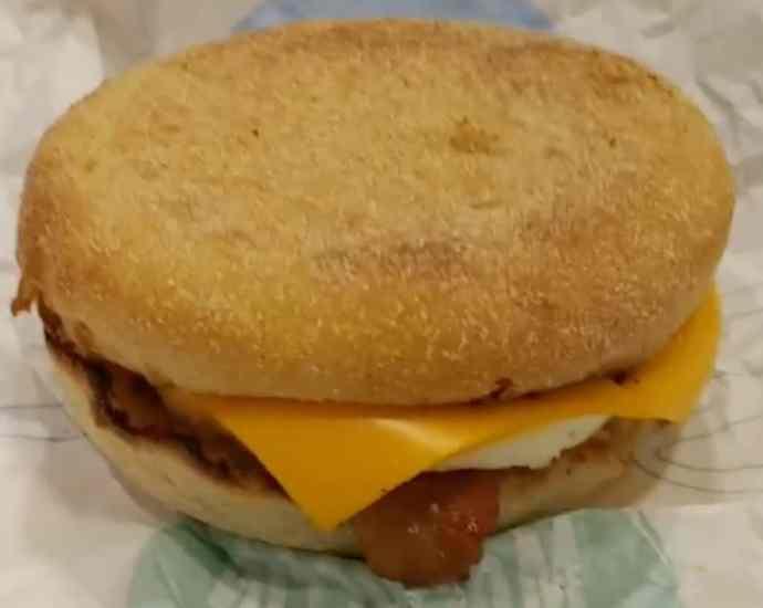 burger for breakfast at mcdonalds