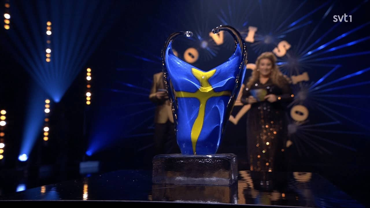 A beautiful trophy is the prize in Eurovision 2020