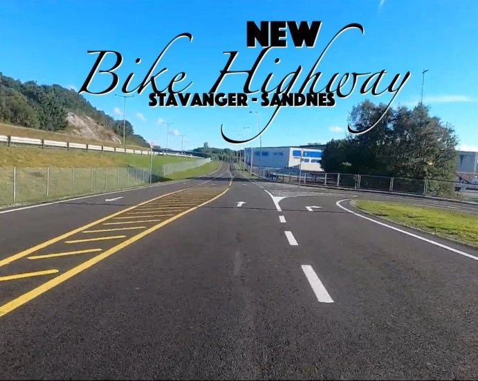 new bike-road with highway alike feel