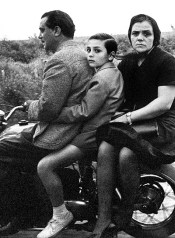 The Holy family on bike, Roma, 1956
