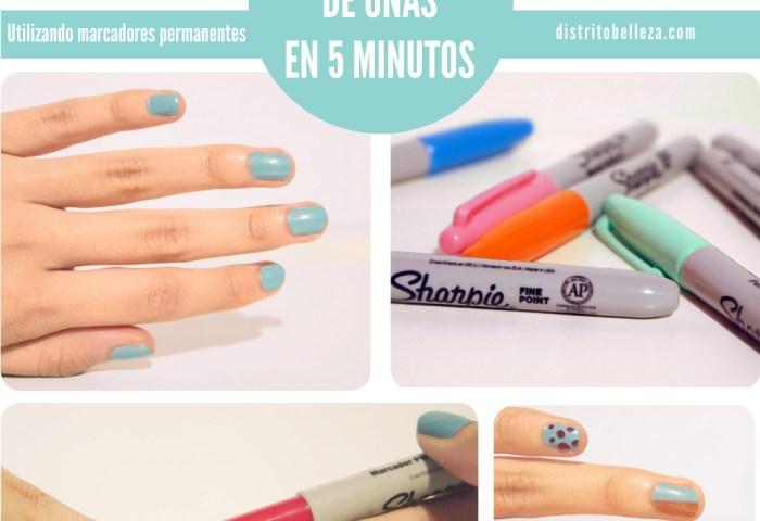 Manicure Esmalte Con Sharpie Distrito Belleza