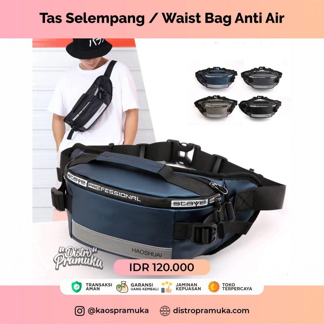 Tas Selempang Waist Bag Anti Air