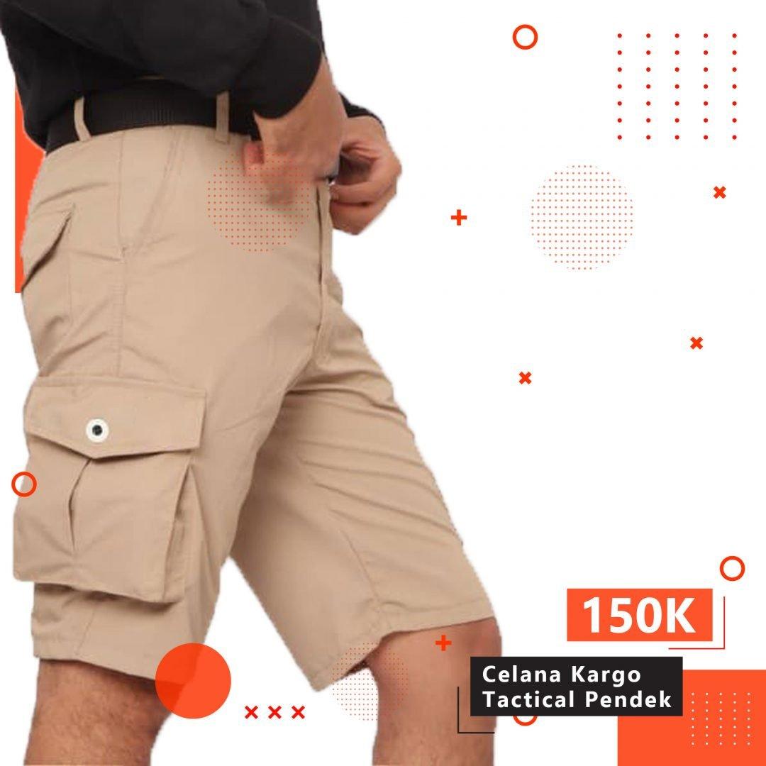 Celana Cargo Tactical Pendek Ripstop Original