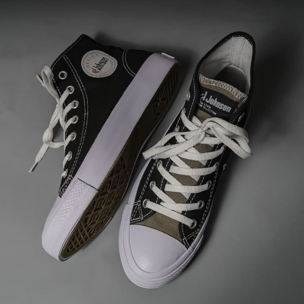 Sneakers Johnson Basic Colour Highcut (HC) Black Grey