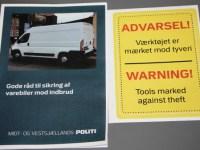 Stigning i indbrud i varebiler