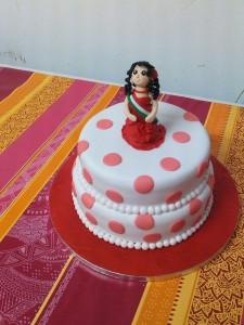 tarta pisos lunares gitana flamenca