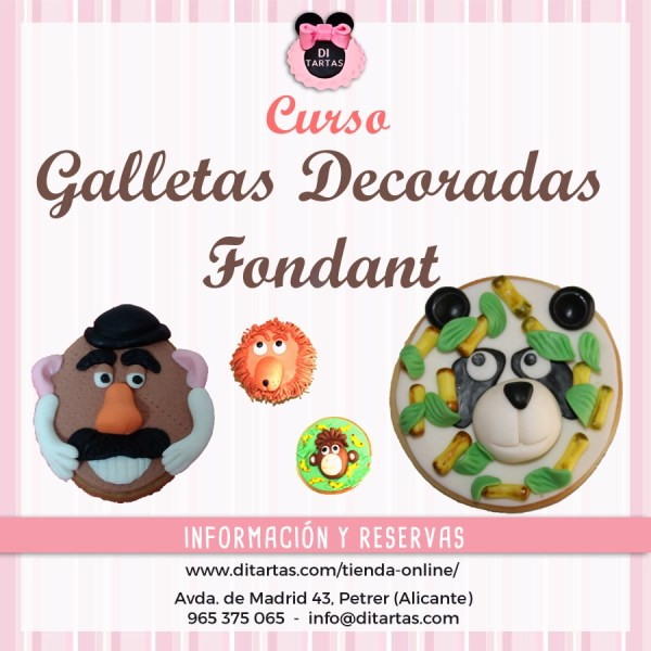 curso galletas decoradas fondant DiTartas