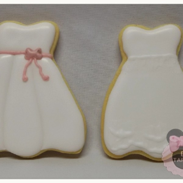 galletas glasa vestido comunion boda
