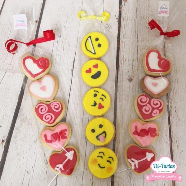galletas corazones emoji amor