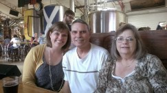 Checking out Dunedin Brewery with my parents
