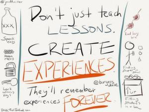 Use sketchnotes for what works best for you. Sometimes, I'll just sketch a single quote to help it stick in my mind.