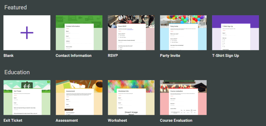 The new google forms 9 classroom uses ditch that textbook forms offers several templates that do a lot of the work for you click to see full size fandeluxe Choice Image