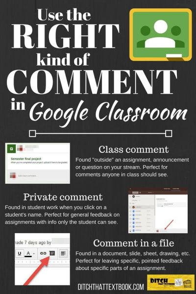classroom comments infographic