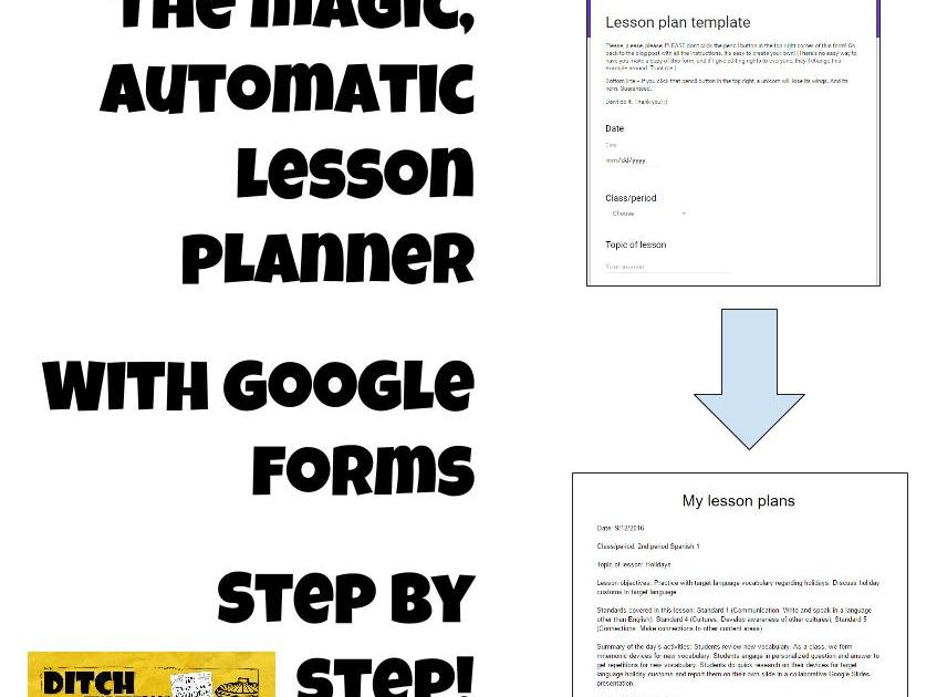 The Magic Automatic Lesson Planner with Google Forms | Ditch That ...