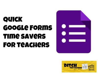 Google Forms is a great survey tool. It can also let us gather and organize our own data, saving us LOTS of time.