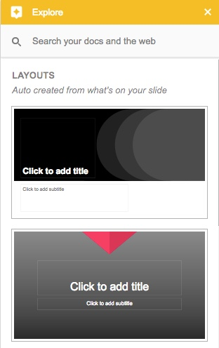 explore slides layout