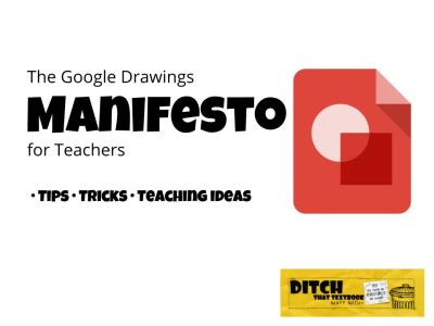 Google Drawings is a blank slate for your students' creativity. Find lots of tips, tricks and teaching ideas in this post.