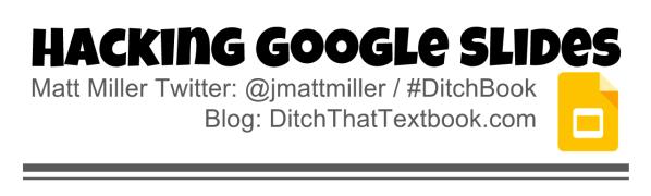 hacking google slides header